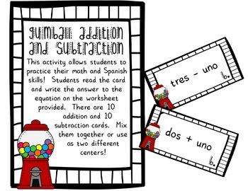 Spanish Gumball Math Bundle