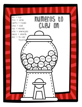 Spanish Gumball Math - Numeros to Chew on