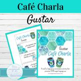 Spanish Gustar Café Charla Speaking Activity