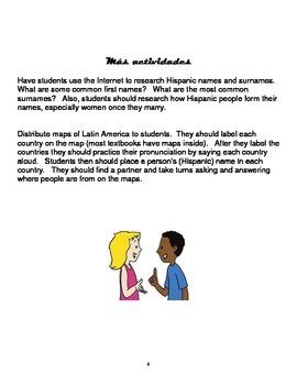 Spanish Gustar, Greetings, Ser, Cognates: Conversational Activities