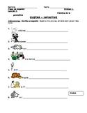 Spanish Gustar + Infinitives Worksheet