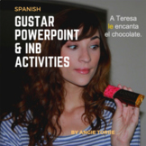 Spanish Gustar Powerpoint and Interactive Notebook Activities Distance Learning