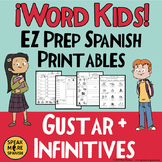 Spanish Gustar Printables for Elementary and Middle School Students.