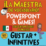 Spanish Gustar, Vocabulary, and Mexico Powerpoint. Juegos