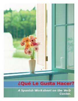 Spanish Gustar Worksheet