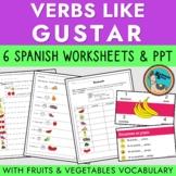 Spanish Gustar and Encantar Frutas y Vegetales
