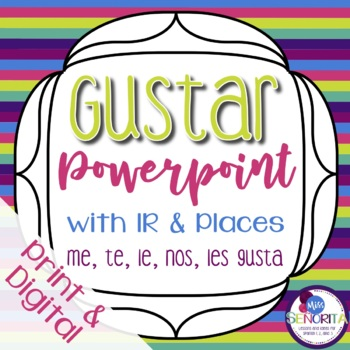 Spanish Gustar with Ir and Places Powerpoint
