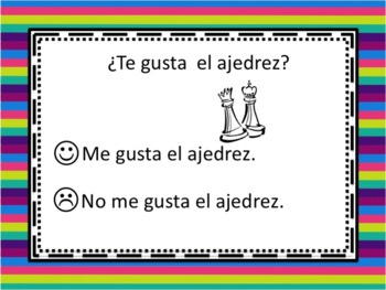 Spanish Gustar with Singular Nouns Powerpoint