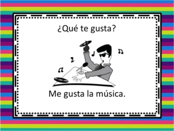Spanish Gustar with Singular Nouns Powerpoint