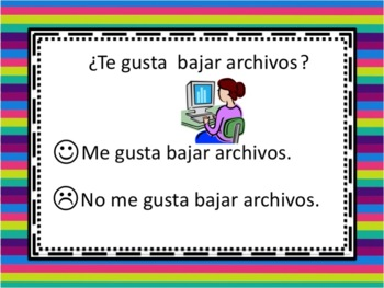Spanish Gustar with Verbs Powerpoint