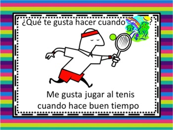 Spanish Gustar with Verbs and Weather Powerpoint
