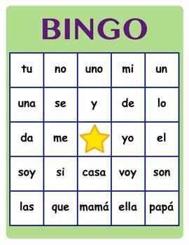 Spanish - HFW (High Frequency Word) BINGO