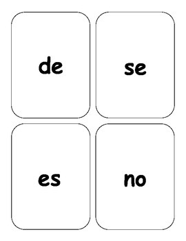 Spanish HFW KABOOM en Español Palabras de Alta Frecuencia Completo