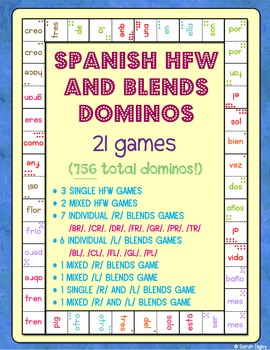 Spanish HFW and Blends Dominos: 21 Games