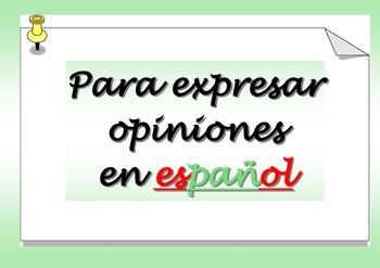 Spanish Hablando de opiniones