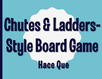 Spanish Hace Que Chutes and Ladders-Style Game