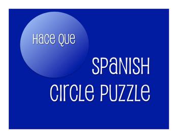 Spanish Hace Que Circle Puzzle