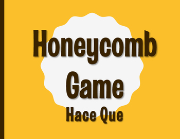Spanish Hace Que Honeycomb Partner Game