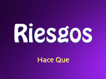 Spanish Hace Que Jeopardy-Style Review Game