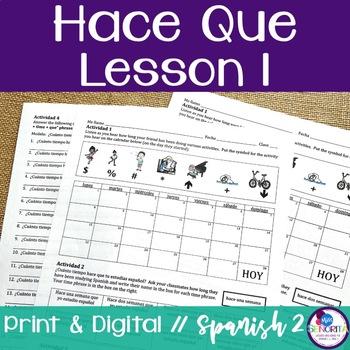 Spanish Hace Que Lesson