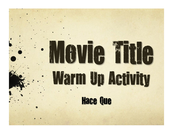 Spanish Hace Que Movie Titles