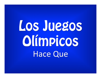 Spanish Hace Que Olympics