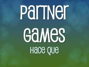 Spanish Hace Que Partner Games