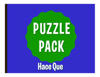 Spanish Hace Que Puzzle Pack