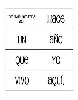 Spanish Hace Que Sentence Mixer