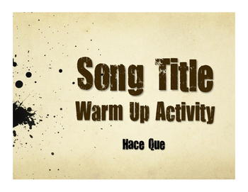 Spanish Hace Que Song Titles