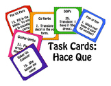 Spanish Hace Que Task Cards
