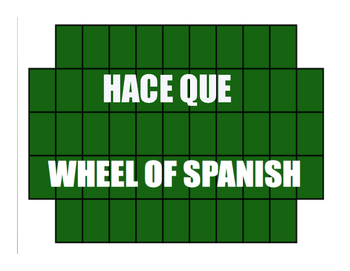 Spanish Hace Que Wheel of Spanish