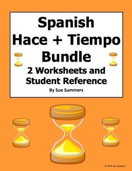 Spanish Hacer + Time / Cuanto Tiempo Hace Bundle