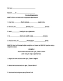 Spanish Hair and Eye Color Worksheet