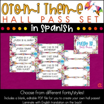 Spanish Hall Pass - Otomi Theme