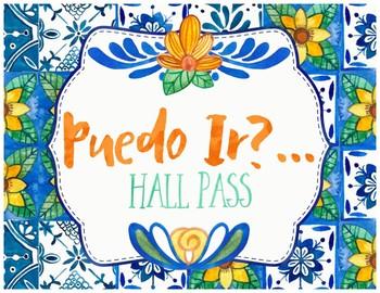 Spanish Hall Pass - Talavera Tile Theme