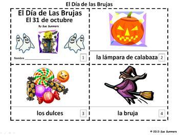 Spanish Halloween 2 Emergent Readers - El Dia de las Brujas
