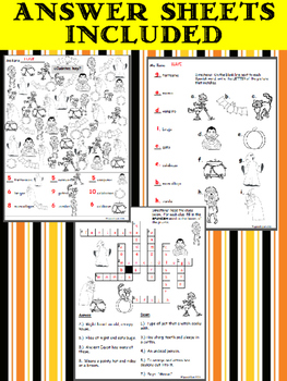 Spanish Halloween 4-Pack Worksheets!! + 1 Bonus Word Search
