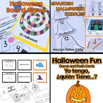 Spanish Halloween Activities {Big Bundle}