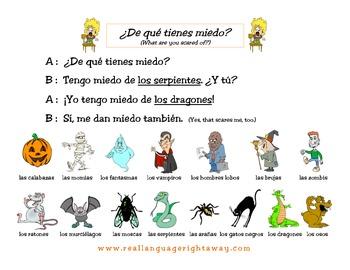 Spanish Partner Conversation - Halloween