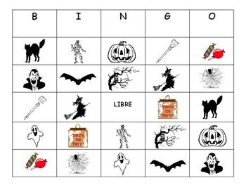 Spanish Halloween BINGO