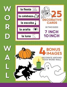 Spanish HALLOWEEN BUNDLE (Día de las Brujas): Puzzles, Flash Cards, Worksheets