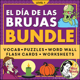 Spanish HALLOWEEN BUNDLE (Día de las Brujas): Puzzles, Flash Cards, Worksheets