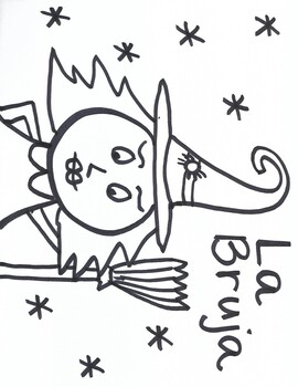 Spanish Halloween Coloring Pages