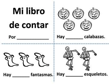 Spanish Halloween Counting Book