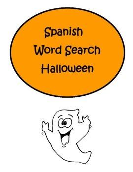 Spanish Halloween Dia de Los Muertos Word Search Puzzle