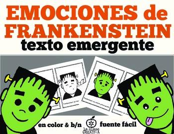 Spanish Halloween Emergent Reader: Frankenstein Emotions