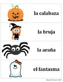 Spanish Halloween Flash Cards