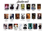 Quien Es?  Spanish Halloween GUESS WHO? Conversation and Vocab Game