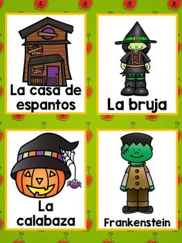 Spanish Halloween Literacy center/ Dia de las brujas lenguaje